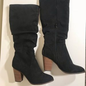 Shoes - Black Slouch Boots